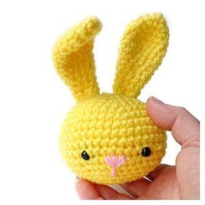 Amigurumi crochet bunny stress ball