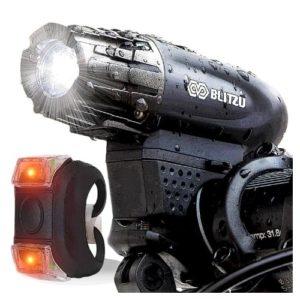 BLITZU Rechargeable Bike Light Set
