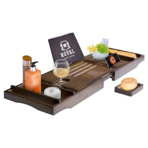 Luxury Bamboo Bathtub Caddy Tray