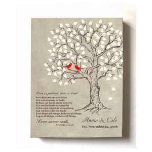 MuralMax Personalized Lovebirds Stretched Anniversary