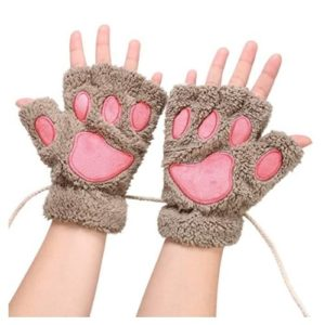 Women Bear Plush Cat Paw Claw