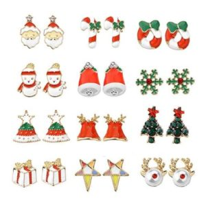 Women Christmas Earring Stud