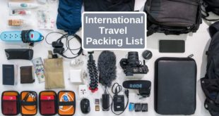 international travel packing list