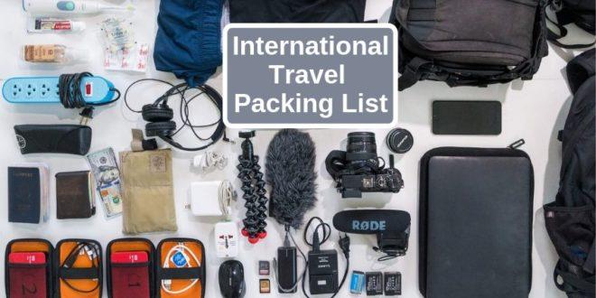 international travel packing list