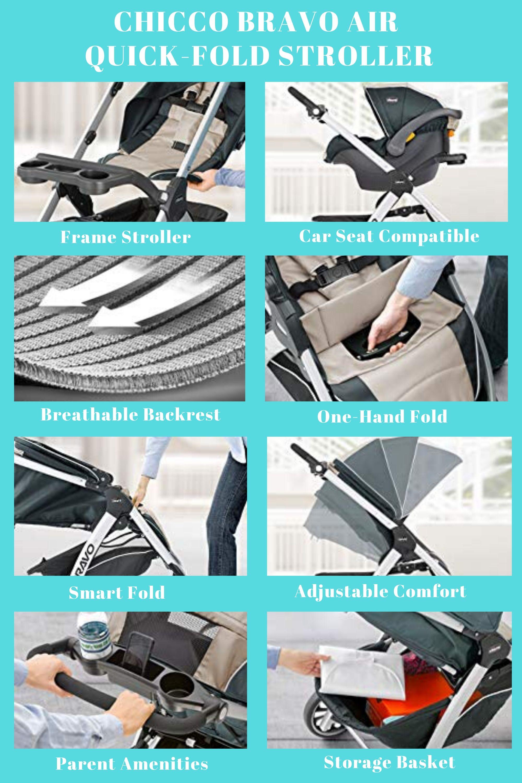Chicco Bravo Air Quick-Fold Stroller