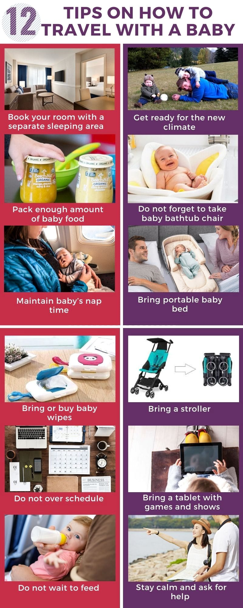 tips on how to travel with a baby