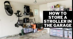 how to store a stroller in the garage